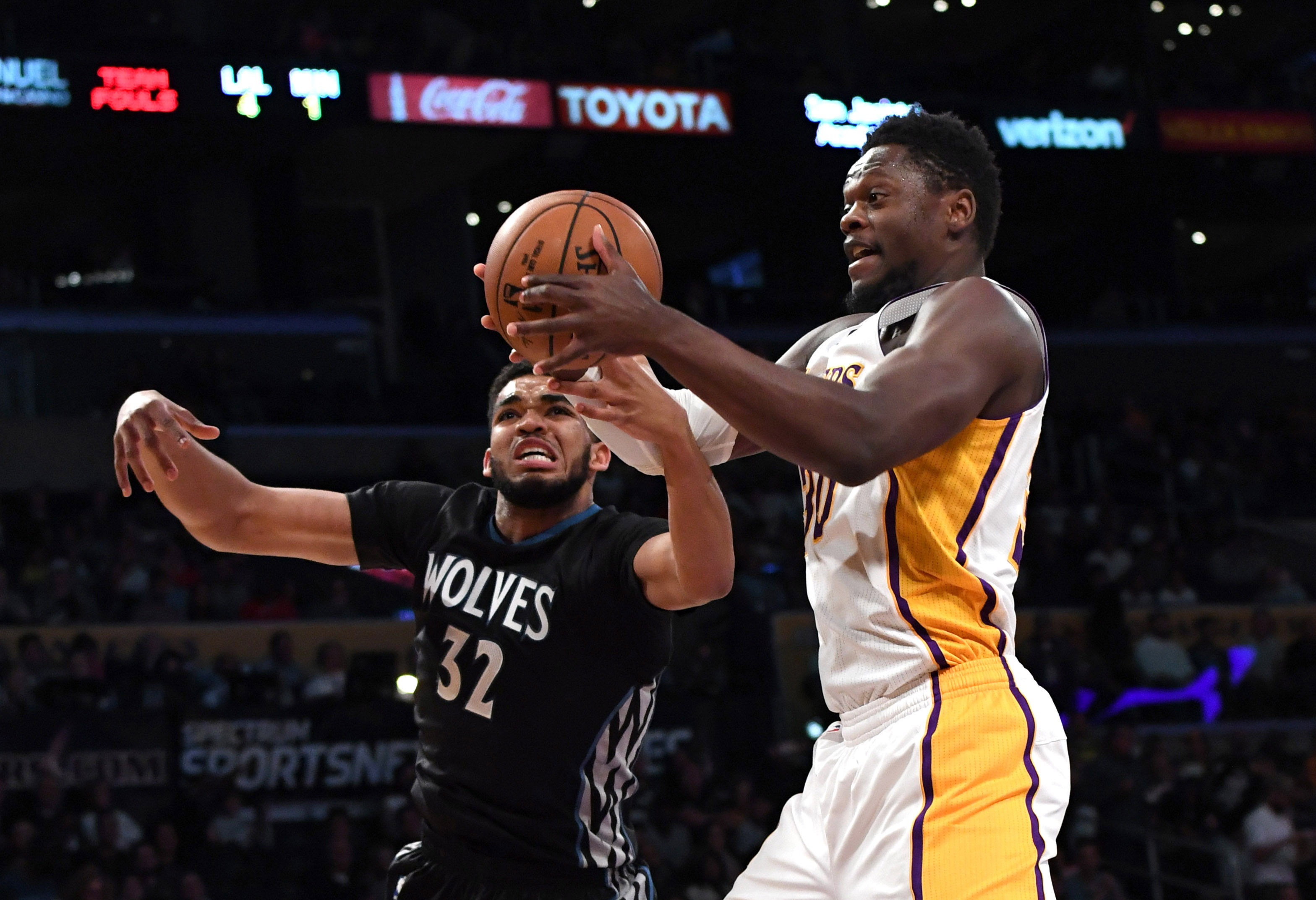 timberwolves vs lakers